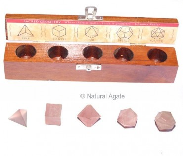 Rose Quartz Geometry set