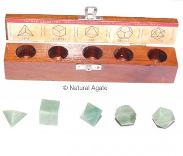 Green Aventurine Geometry Set