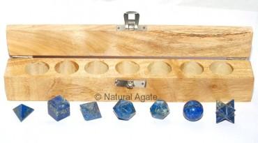 Lapis Lazuli Geometry set 7 Stone