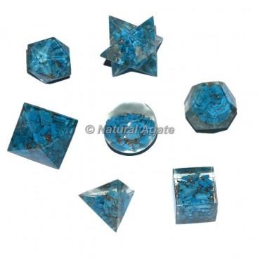 Orgone Turquoise Geometry Set