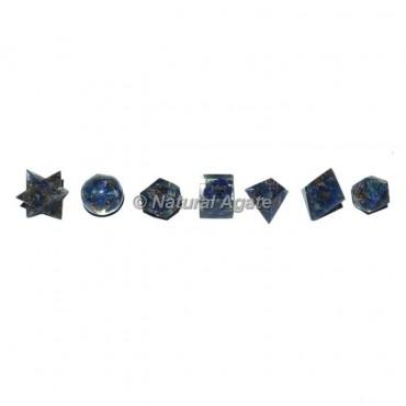 Lapis Lazuli Orgonite Geometry Set