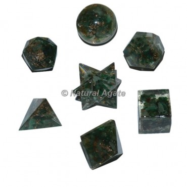 Green Aventurine Orgonite Geometry Set