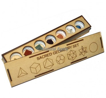 Assorted Seven Chakra Carved Geometry Set