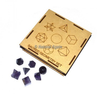Amethyst Geometry Set With Square Gift Box