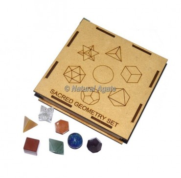 Assorted Seven Chakra Geometry Set With Square Gift Box