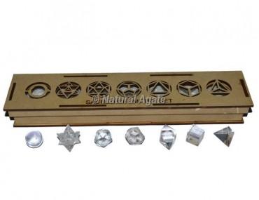 Crystal Quartz Sacred Geometry Set