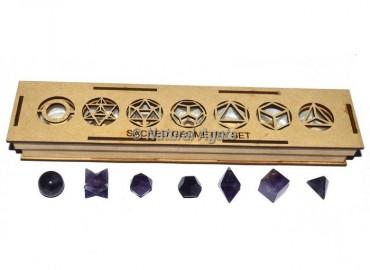 Amethyst Sacred Geometry Set