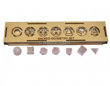 Rose Quartz Sacred Geometry Set