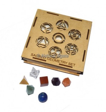 Seven Chakra Sacred Geometry Set With Square Gift Box