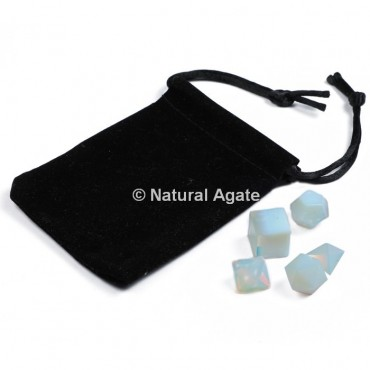 Opalite Sacred Geometry Set With Gift Pouch