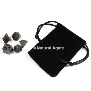 Blood Stone Sacred Geometry Set With Gift Pouch
