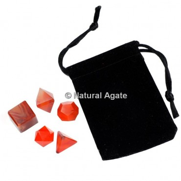 Banded Agate Sacred Geometry Set With Gift Pouch