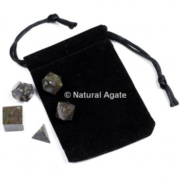 Epidote Sacred Geometry Set With Gift Pouch