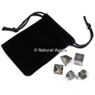 Hematite Sacred Geometry Set With Gift Pouch