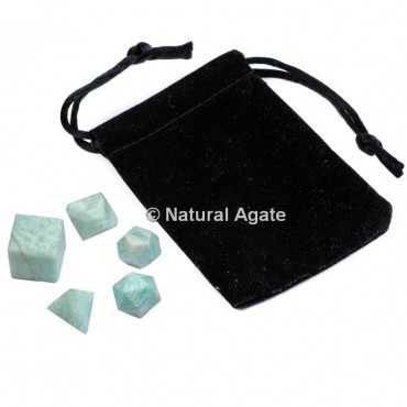 Amazonite Sacred Geometry Set With Gift Pouch