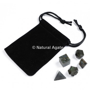 Labradorite Sacred Geometry Set With Gift Pouch