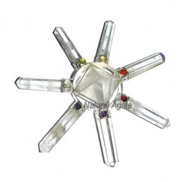 Crystal Quartz Chakra Generator Crystal Pyramid