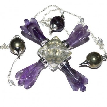 Amethyst Angel with Crystal Pyramids Generator