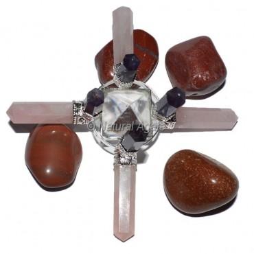 Rose-Amethyst-Crystal Pyramids Healing Generator