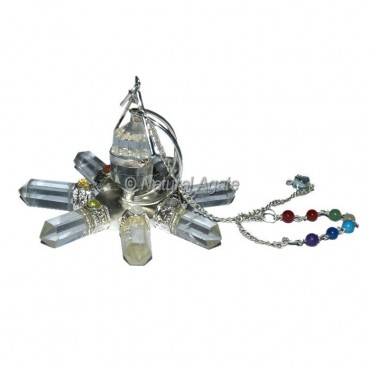 Crystal Quartz Seven Chakra Dowsing Generator