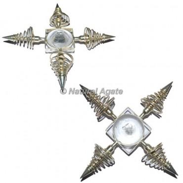 Crystal Quartz Brass Pendulum Energy Generator