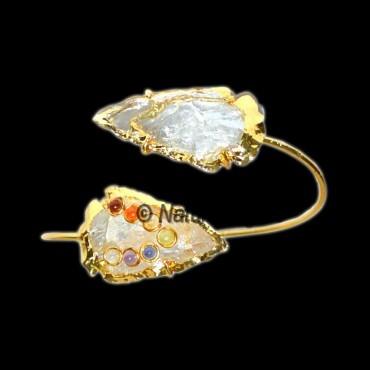 Crystal Quartz With Chakra Stone Bracelets