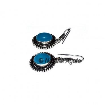 Blue Onyx Healing Earring