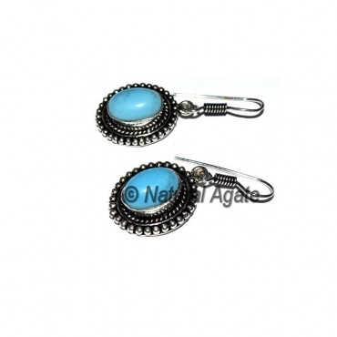 Opal Oval Cab Earrings