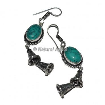Turquoise Tibetan Earrings