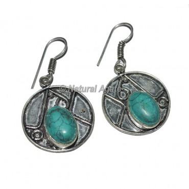 Turquoise Oval Shape Earrings