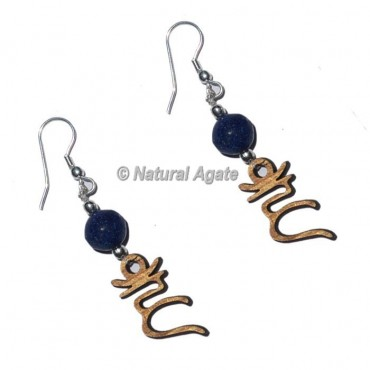 Lapis Lazuli With Throat Chakra Earrings