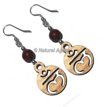 Laborite Root Chakra Earrings