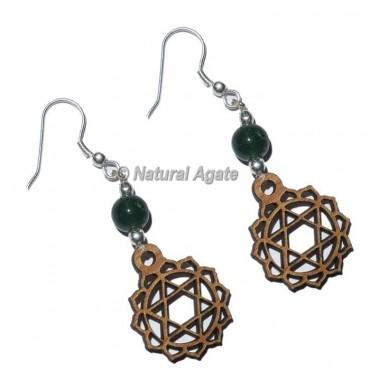 Heart Chakra Earrings Green Aventurine Stone