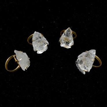 Crystal Quartz Arrowheads Ring