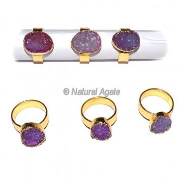 Amethyst Agate Ring