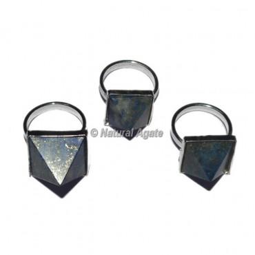 Lapis Lazuli Pyramid Ring