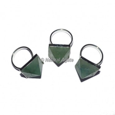 Green Aventurine Pyramid Ring