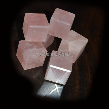 Rose Quartz Cubes