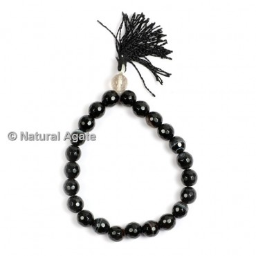 Black Onyx Faceted Healing Yoga Bracelet