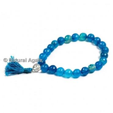 Blue Onyx Faceted Healing Yoga Bracelet
