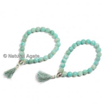 Amazonite Faceted Healing Yoga Bracelet