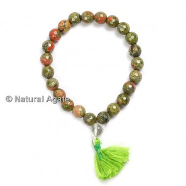 Unakite Faceted Healing Yoga Bracelet