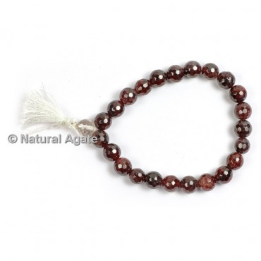 Garnet Faceted Healing Yoga Bracelet