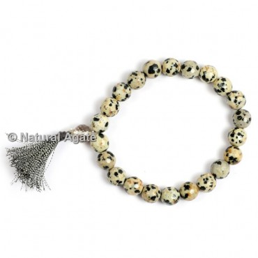 Dalmation Faceted Healing Yoga Bracelet
