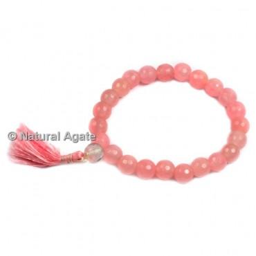 High Quality Faceted Rose Quartz Healing Yoga Bracelet