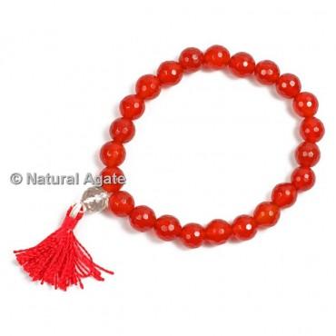 Carnelian Faceted Healing Yoga Bracelet