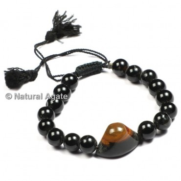 Black Onyx with Eye Stone Healing Yoga Bracelet