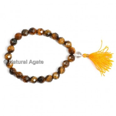 Tiger Eye Faceted Healing Yoga Bracelet