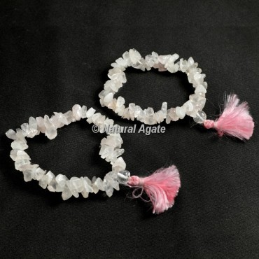 Rose Quartz Chips Healing Yoga Bracelet