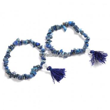 Lapis Lazuli Chips Healing Yoga Bracelet